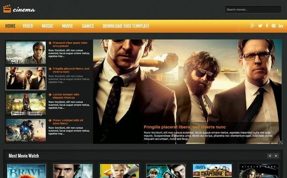 Cinema Blogger Template Free Download