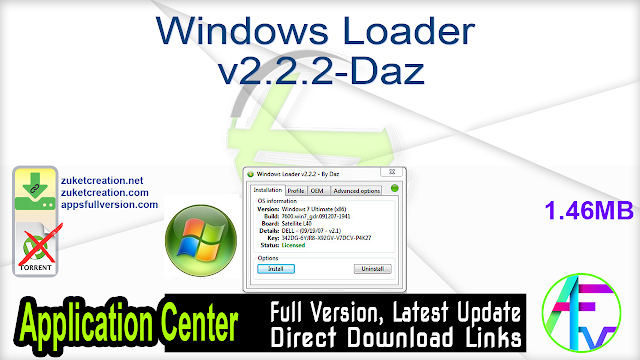 Windows Loader v2.2.2-Daz