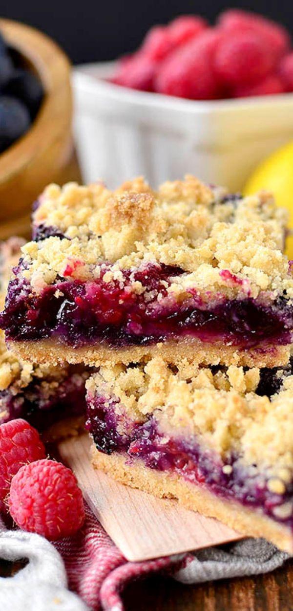 Triple Berry Crumb Bars