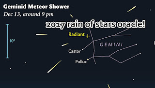 Geminid the rain of stars forecast oracle for 2017