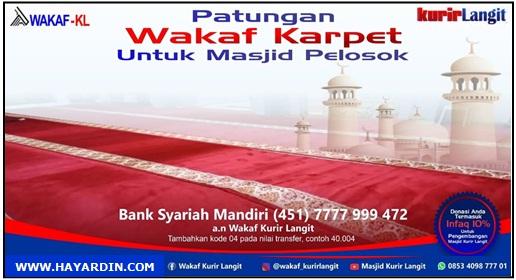 Wakaf Karpet Untuk Masjid Pelosok