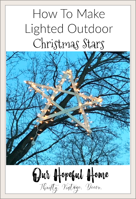 lighted wooden hanging star tree