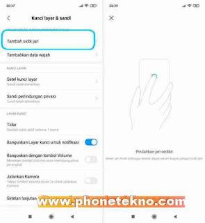 Cara mengaktifkan kunci layar dan sidik jari redmi note 7