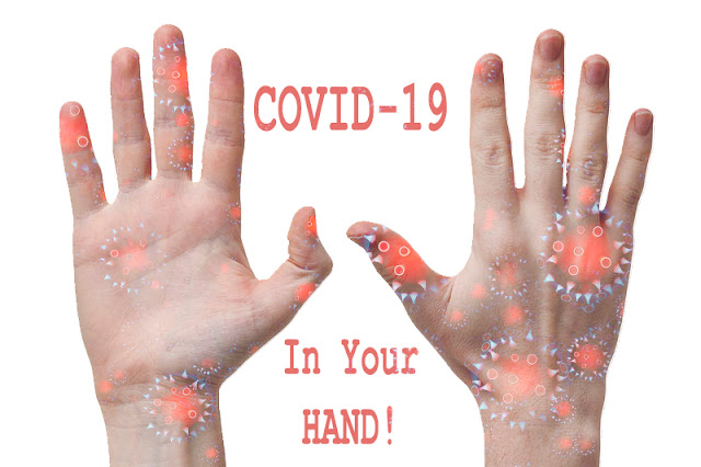 you have the Covid 19 virus stuck in your hand