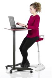 ergonomic perch stool