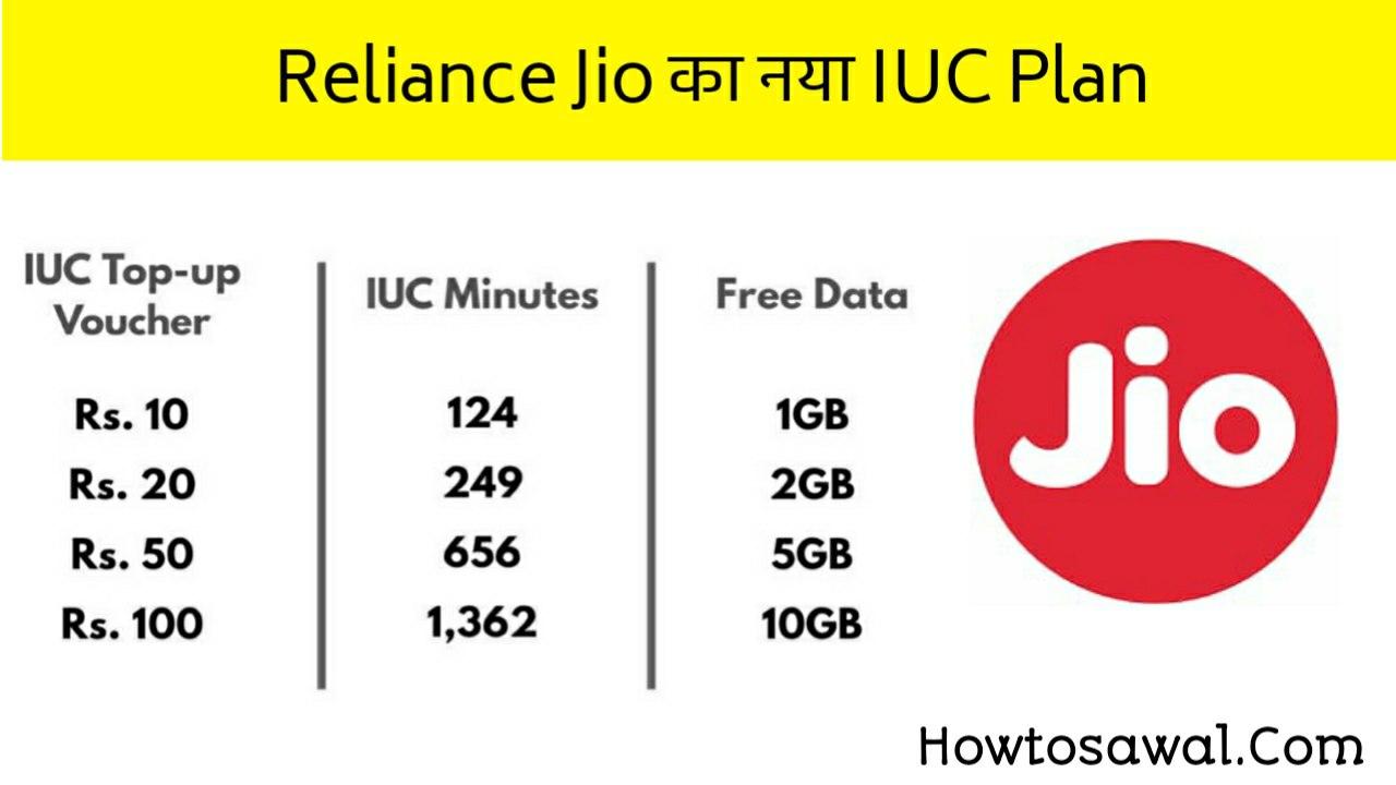 Reliance Jio IUC Plan Recharge In Hindi