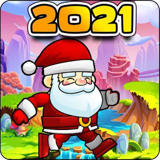 Jogo online grátis Jungle Adventure Santa World 2021