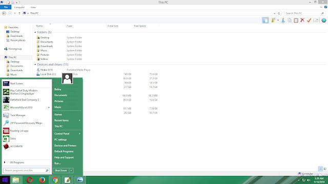 Merubah Tampilan Windows 10, 8, 8.1 Menjadi Windows 7 Gratis!!