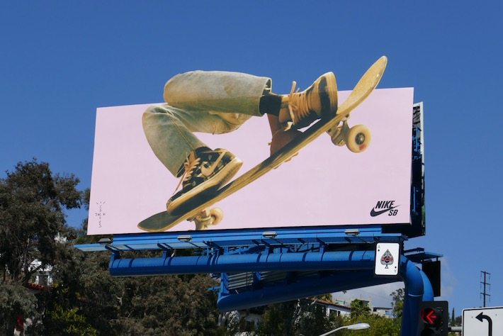 Nike SB Cactus Jack sneakers extension billboard