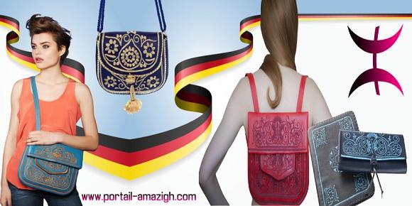 مصممة ألمانية حقائب تقليدية امازيغية