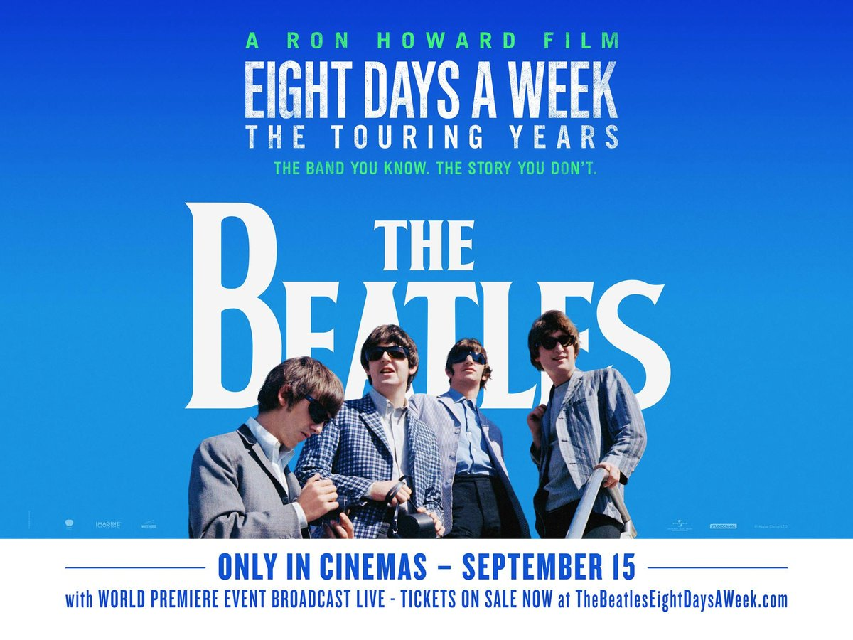 THE BEATLES: EIGHT DAYS A WEEK - El documental de Ron Howard - poster