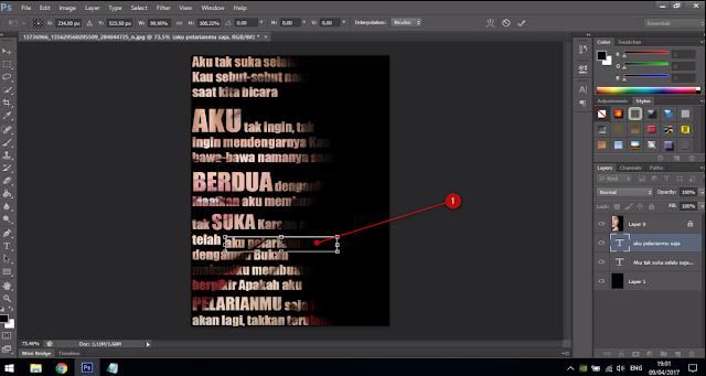 Cara Membuat Text Portrait Pada Wajah (Typography) 14