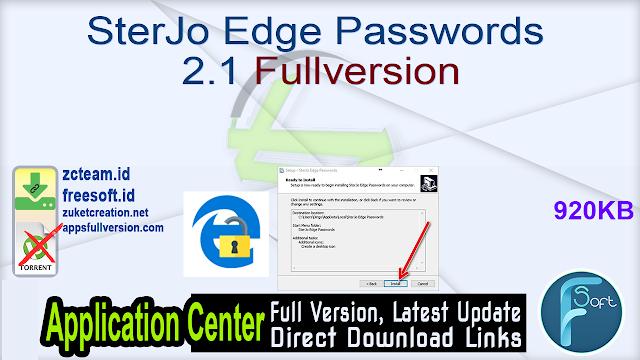 SterJo Edge Passwords 2.1 Fullversion