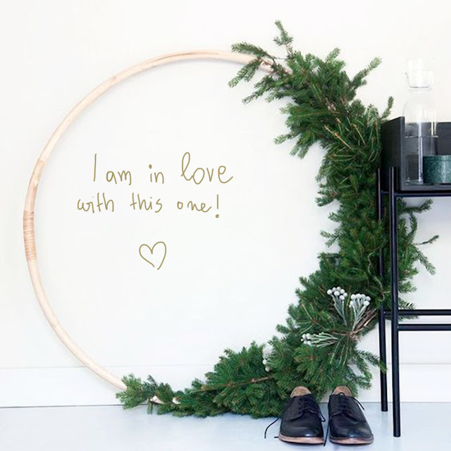 big christmas wreath minimalist style