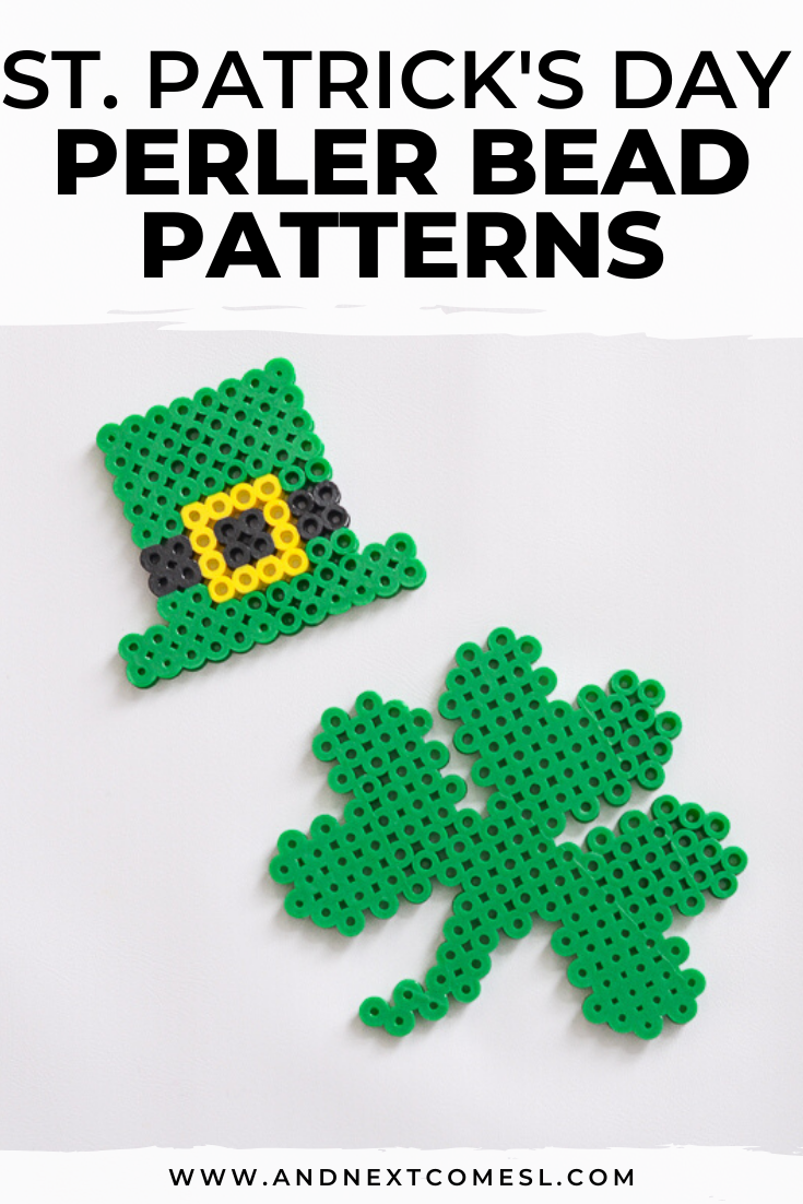 St. Patrick's Day perler beads ideas and patterns
