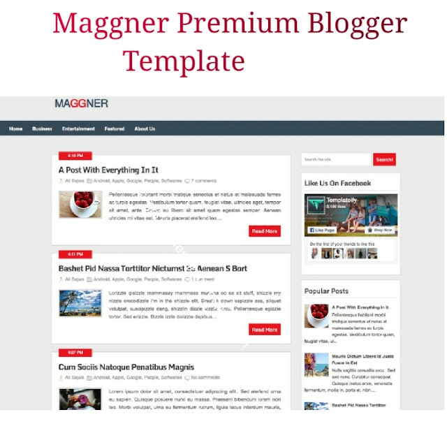 Maggner adsense friendly blogger template