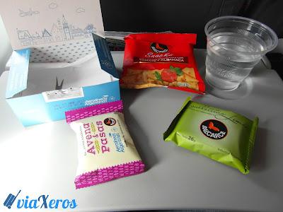 snacks aerolíneas argentinas