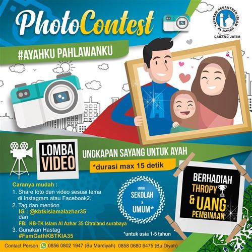 Photo Contest #Ayahku Pahlawanku Deadline 8 November 2019 (Batas Maksimal)