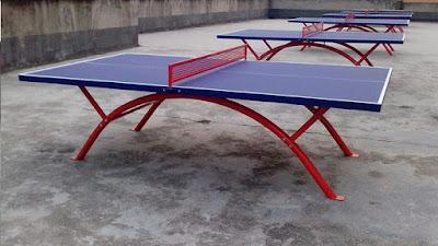 bàn bóng bàn ngoài trời được thiết kế khung thép sơn tĩnh điện