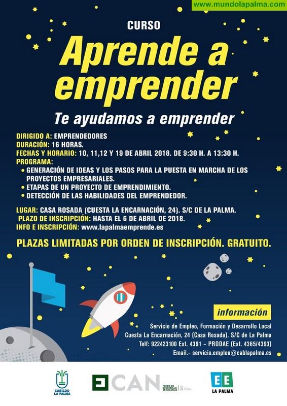 El Cabildo pone en marcha un curso gratuito para fomentar la puesta en marcha de proyectos empresariales