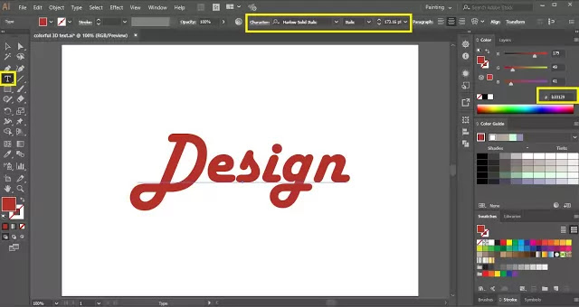 Text Effect in Illustrator