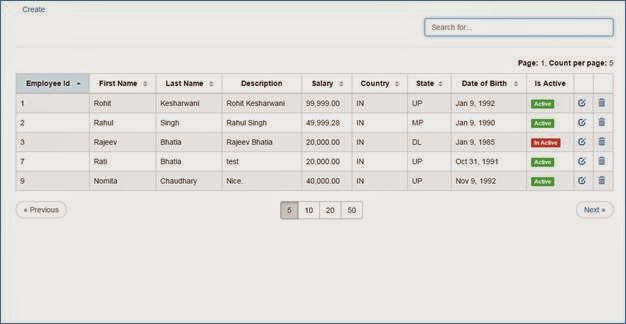 Bootstrap Angular Table Pagination - Principlesofafreesociety