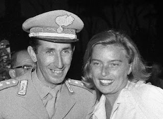 Raimondo d'Inzeo with wife Giuliana pictured soon after  the medal ceremony at the 1960 Olympics