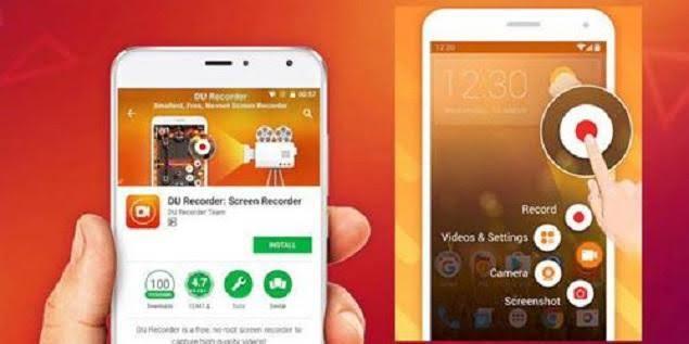 merekam layar iphone menggunakan aplikasi DU Recorder