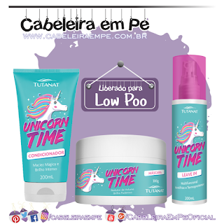 Condicionador, Máscara e Leave in Unicorn Time - Tutanat (Low Poo)