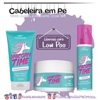 Condicionador, Máscara e Leave in Unicorn Time - Tutanat (Low Poo)