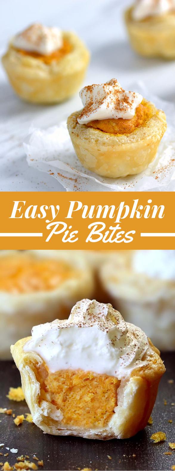Easy Pumpkin Pie Bites #desserts #cake