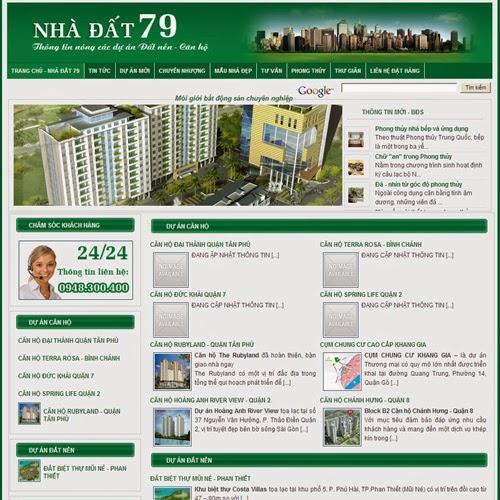 thiết kế website nhà đất