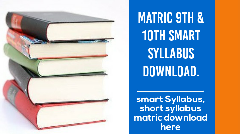Class 9th 10th Smart Syllabus of Matric 2020