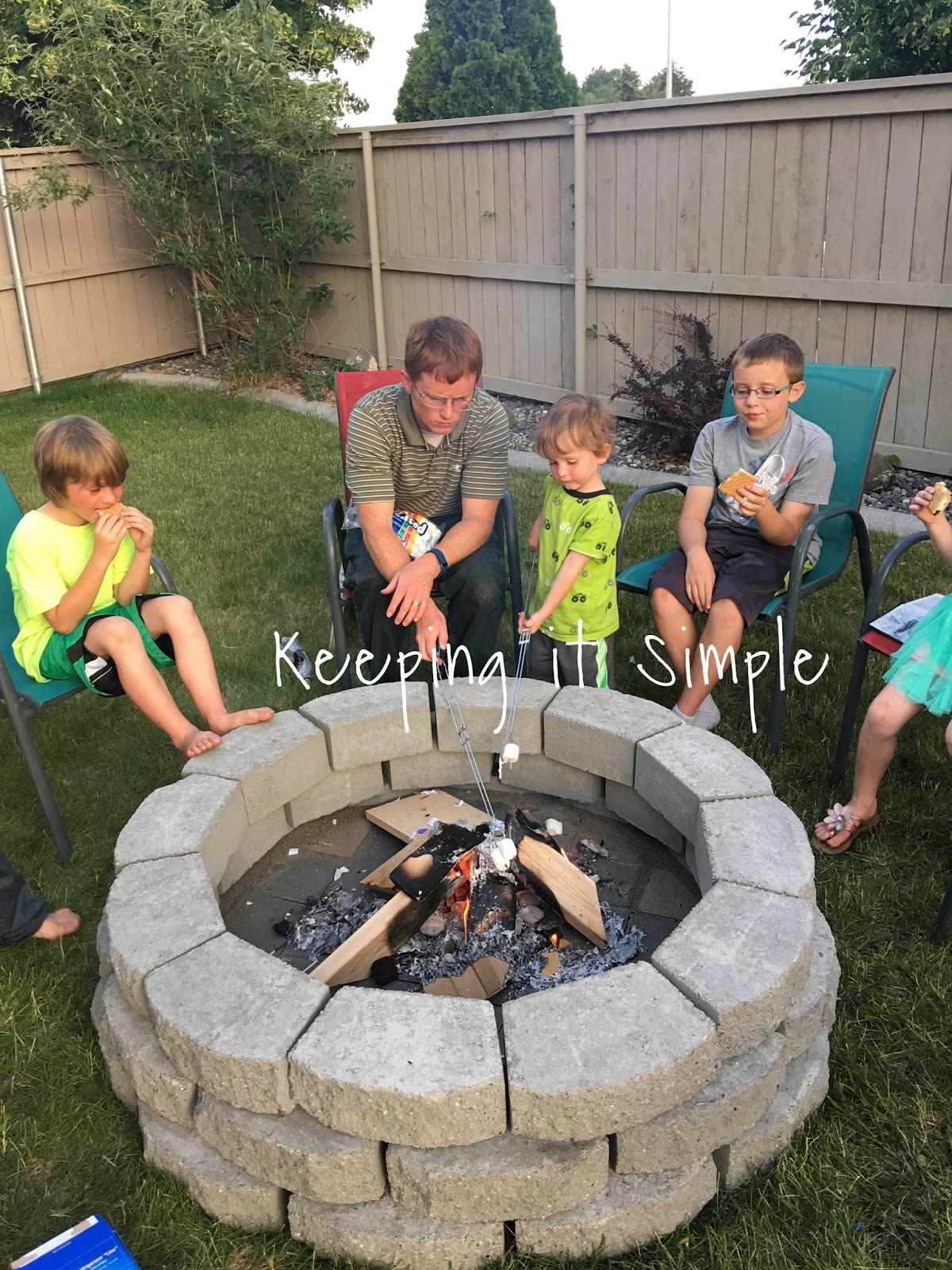 Patio Fire Pit Ideas How To Build A Diy Fire Pit For Only 60 Keeping It Simple