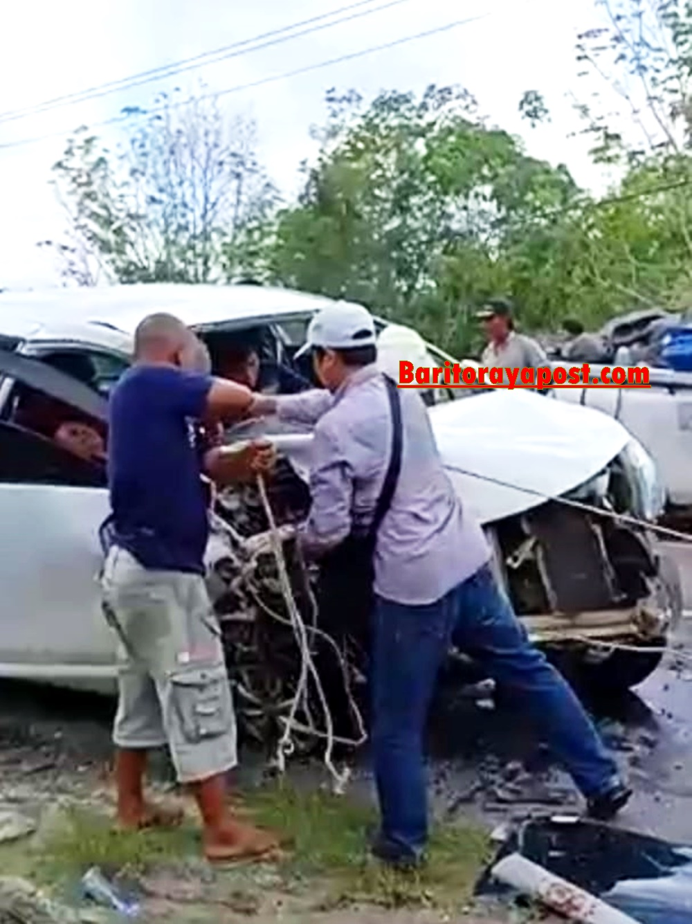 Sopir Avanza Tewas di RS Usai Tabrakan Maut di Desa Karitak