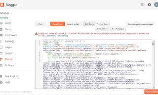 free blogger theme setting install kare
