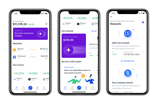 Coinbase's Users can Now Earn Rewards With Updated Mobile Application
