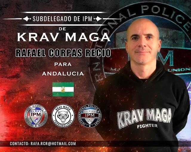Nombramiento del entrenador D. Rafael Corpas como Subdelegado de KRAV MAGA de IPM, para la Comunidad de Andalucía