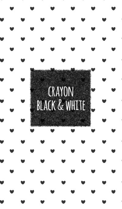 Crayon Black & White / Heart