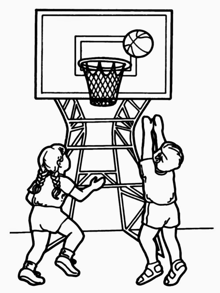 basketball player coloring pages - photo#34