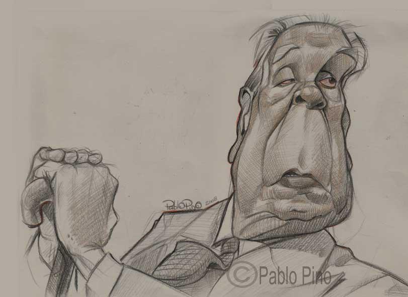 "Boceto de ""Jorge Luis Borges"" por Pablo Pino"