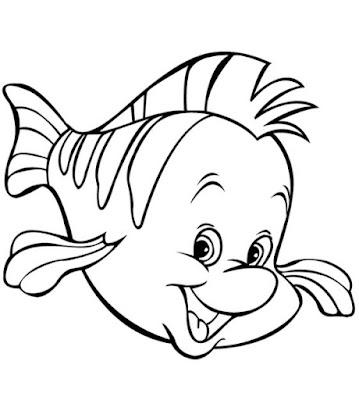 Gambar Sketsa Ikan Nemo Lucu