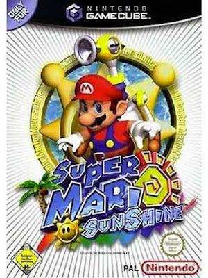 La copertina di ''Super Mario Sunshine'' per Nintendo GameCube