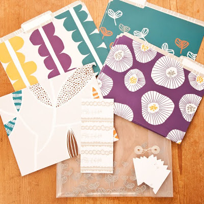 patterned file folders