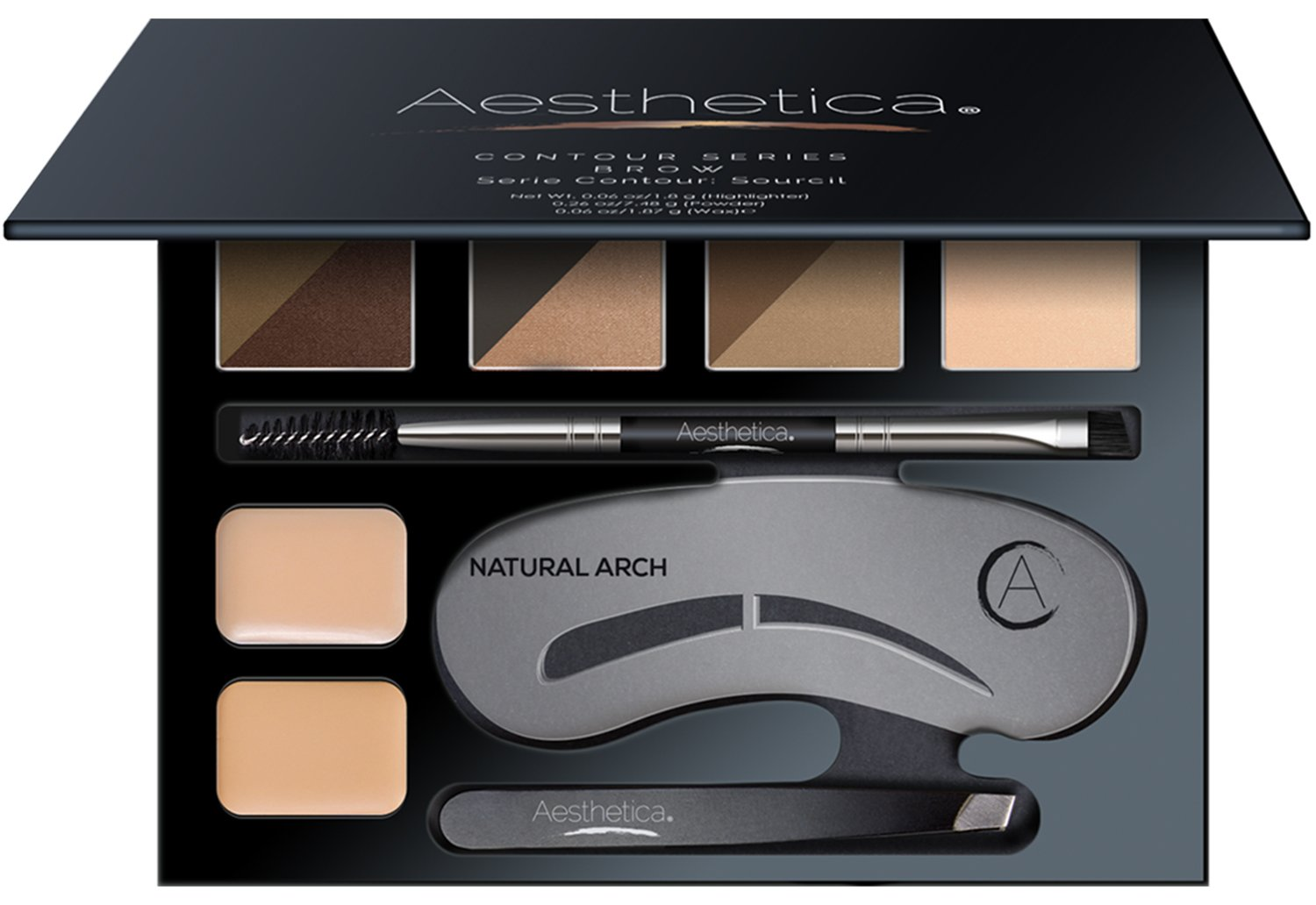 Aesthetica Brow Contour Kit - 16-Piece Eyebrow Makeup ...