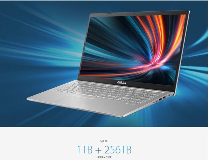 Kapasitas penyimpanan ASUS VivoBook 15 A516