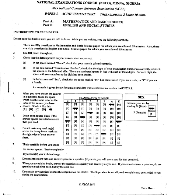 National Common Entrance Past Questions & Answers [2011 - 2021]