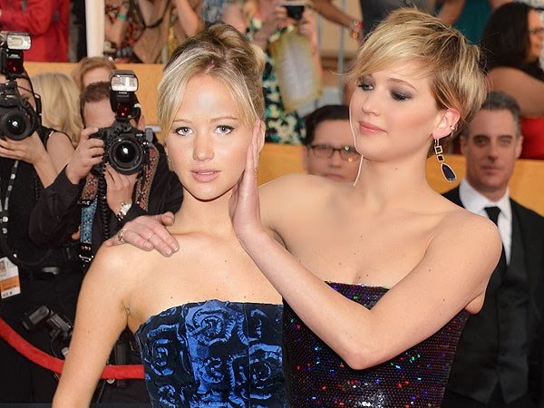 Jennifer Lawrence in 2014 (right) and in 2007