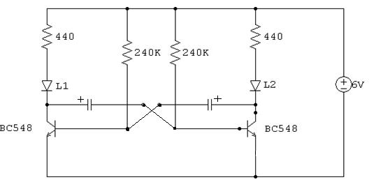 pisca pisca com transistor