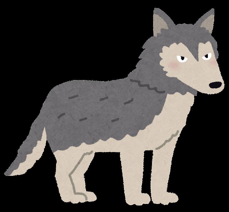 オオカミのイラスト かわいいフリー素材集 いらすとや